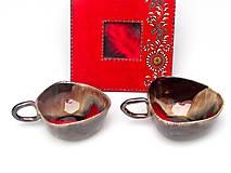 Nádoby - šálka červeno kovová - 10231895_