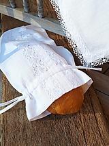 Ľanové vrecko na chlieb Linen Ecstasy White
