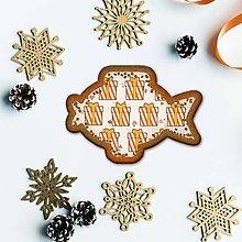 Dekorácie - Vianočné grafické perníky so vzorom stracciatella - vianočný darček pásikavý - 10233367_