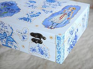 Krabičky - Folk krabička na čaj - 10237415_