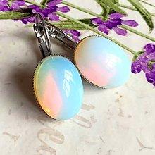 Náušnice - Opalite French Clasp Earrings / Náušnice s opalitom v platinovom prevedení /1327 - 10235828_