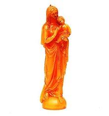Svietidlá a sviečky - SVIEČKA Panna Mária s Ježiškom - 10237861_