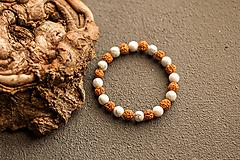 Náramky - náramok rudraksha, magnezit - 10237175_