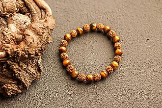 Náramky - náramok rudraksha, tigrie oko - 10237201_