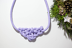 Náhrdelníky - Náhrdelník z lana Violett - 10235421_