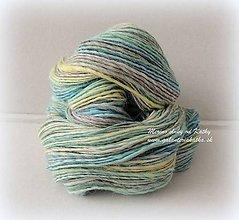 Materiál ručne robený - Alpaka - ručne farbená, ručne pradená - 10236335_