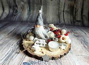 Dekorácie - nádherný jemný svietnik (škriatok) - 10235107_