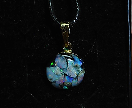 Náhrdelníky - opal in gold - 10238396_