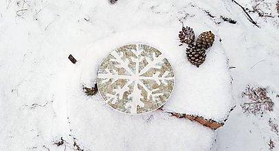 Nádoby - Porcelánový tanierik Vločka - 10237801_
