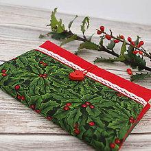 Úžitkový textil - Obal na zápisník - Vánoční přání - 10235288_