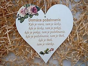 Tabuľky - Tabuľka Domáce požehnanie - 10235715_