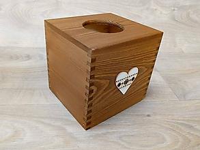Krabičky - HM - Krabička na vreckovky - podstava štvorec - 10236180_