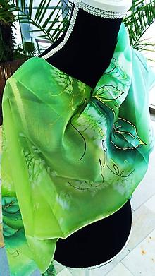 Šatky - zelený les - 10237624_