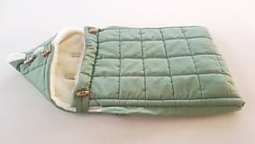Textil - RUNO SHOP fusak pre deti do kočíka 100% ovčie runo MERINO TOP super wash do úzkych vaničiek a autosedačky s otvormi Gree - 10237169_