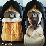 Textil - RUNO SHOP fusak pre deti do kočíka 100% ovčie runo MERINO TOP super wash do úzkych vaničiek a autosedačky s otvormi Gree - 10237194_