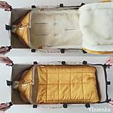 Textil - RUNO SHOP fusak pre deti do kočíka 100% ovčie runo MERINO TOP super wash do úzkych vaničiek a autosedačky s otvormi Gree - 10237195_