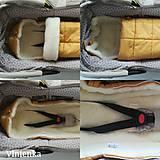 Textil - RUNO SHOP fusak pre deti do kočíka 100% ovčie runo MERINO TOP super wash do úzkych vaničiek a autosedačky s otvormi Gree - 10237200_