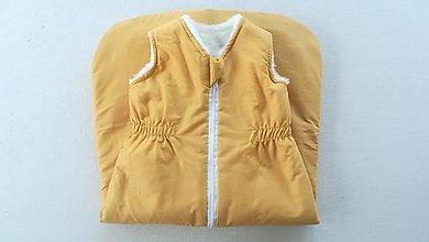 Textil - RUNO SHOP Spací vak pre deti a bábätká ZIMNÝ 100% MERINO na mieru Horčicový - 10237362_