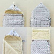 Textil - RUNO SHOP fusak pre deti do kočíka 100% ovčie runo MERINO TOP super wash BODKA pastelová šedá - 10238046_