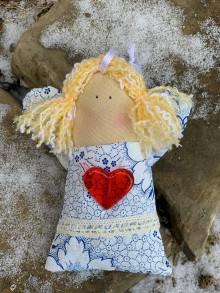 Drobnosti - Levanduľový anjelik modrý  vzor - 10237956_