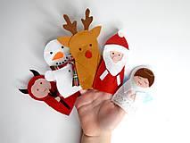 Hračky - Bábky na prsty: Vianoce - 10235119_