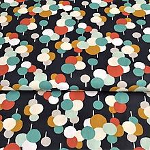 Textil - retro balóny, 100 % bavlna Francúzsko, šírka 150 cm - 10235750_