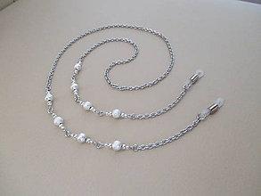 Iné šperky - Retiazka na okuliare - trblietavo strieborná - chirurgická oceľ - 10237521_