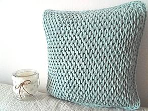 Úžitkový textil - Vankúš Nordic Day svetlomentolový menší - 10236420_