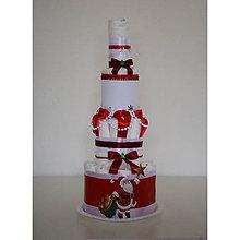 Detské doplnky - Vianočná plienková torta 4 - 10235399_