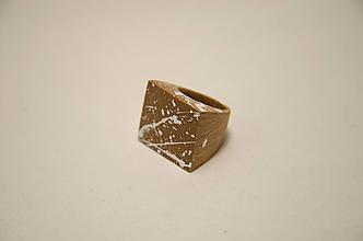 Prstene - Prsteň marmo 1° (prsteň plochý marmo1°) - 10236816_