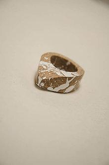 Prstene - Prsteň marmo 1° (prsteň tvarovaný marmo 1°) - 10236848_