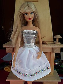 3e66624c303c Hračky - Folk sukňa biela pre Barbie - 10236412