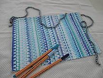 Kresby - LUPENE - ručne maľované, každý kus je originál (Modrá) - 10236946_