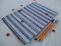 Kresby - LUPENE - ručne maľované, každý kus je originál (Modrá) - 10236957_