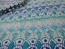 Kresby - LUPENE - ručne maľované, každý kus je originál (Modrá) - 10236965_