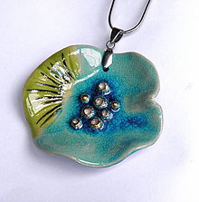 Náhrdelníky - Keramický šperk - Vodný svet - 10236922_