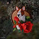 Odznaky/Brošne - Bulteriér a maky - brošňa podľa fotografie psíka - 10237001_