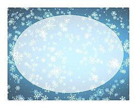 Papiernictvo - Samolepky na vianočné balíčky - vločky v modrom - 10235894_