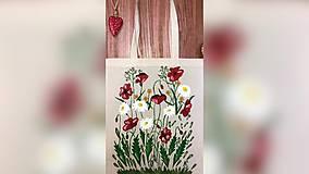 Iné tašky - ♥ Plátená, ručne maľovaná taška ♥ - 10236212_