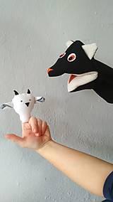 Hračky - maňušky kozliatka a vlk - 10235374_