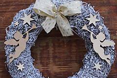 Dekorácie - Anjelské trúbenie - vianočný veniec - 10236604_