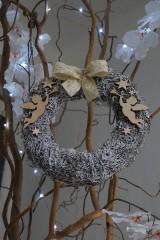 Dekorácie - Anjelské trúbenie - vianočný veniec - 10236606_