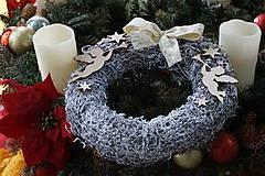 Dekorácie - Anjelské trúbenie - vianočný veniec - 10236614_