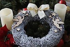 Dekorácie - Anjelské trúbenie - vianočný veniec - 10236632_