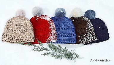 Čiapky - čiapky s brnbolčekom zľava zo 17,90€ - 10236436_