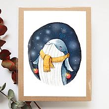Obrázky - Obrázok s veľrybou, vianočná veľryba - 10236493_