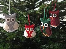 Dekorácie - Vianočná sovička na stromček - 10235925_