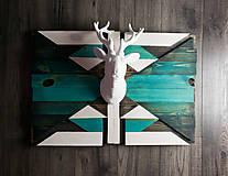 Obrazy - Drevený mozaikový obraz - Puzzle Deer - 10238386_