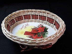 Košíky - Vianočný košíček - 10237252_