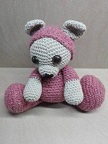 Hračky - Háčkovaný zajačik v pyžamku - 10236618_